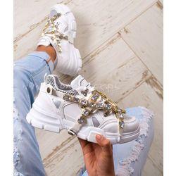 Buty sportowe Crystals Rock białe
