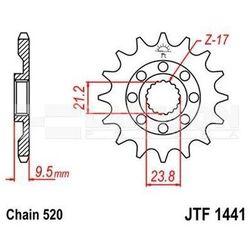 Zębatka przednia JT F1441-14 SC, RAC 14Z, rozmiar 520 2201257 Suzuki RM-Z 450