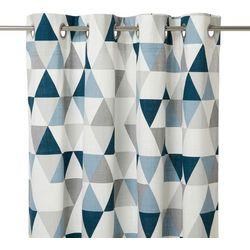 Zasłona GoodHome Rima 140 x 260 cm niebieska