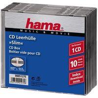 Pudełka i portfele na płyty, Opakowanie na cd/dvd HAMA Pudełka na płyty CD Slim Standard 10szt