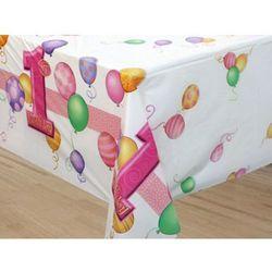 Obrus na roczek 1st Birthday Baloniki Pink - 137cm x 213cm - 1 szt