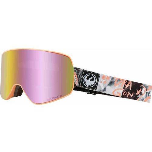 Kaski i gogle, gogle snowboardowe DRAGON - Dr Nfx2 Two Flaunt Llpinkion+Lldksmk (003) rozmiar: OS