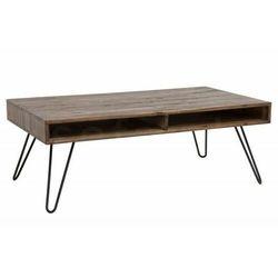 INVICTA stolik kawowy SCORPION 110 cm - szara akacja, drewno naturalne, metal