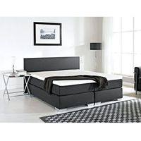 Łóżka, Łóżko kontynentalne 160x200 cm - Łóżko tapicerowane - PRESIDENT czarne