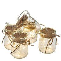 Ozdoby świąteczne, Dekoracje - 15 LED 0,8 m szklane słoiczki 3x AA WW, timer ZY2098