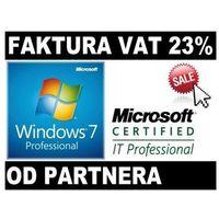 Systemy operacyjne, Microsoft Windows 7 Profesional PL COA od Partnera Microsoft