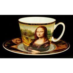Kpl. - filiżanka + spodeczek - L.Da Vinci - Mona Lisa