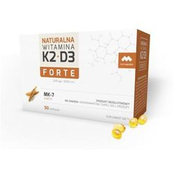 NATURALNA WITAMINA K2 MK-7 FORTE + D3, 50 KAPSUŁEK