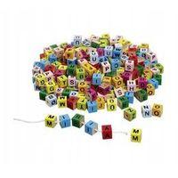 Zabawki z drewna, Kolorowe klocki z literkami do nawlekania - Goki. DARMOWA DOSTAWA DO KIOSKU RUCHU OD 24,99ZŁ