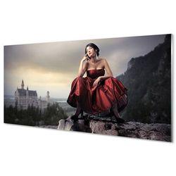 Szklany Panel Kobieta góry suknia
