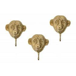 INVICTA zestaw wieszaków THREE APES 3 - złote, metal, aluminium