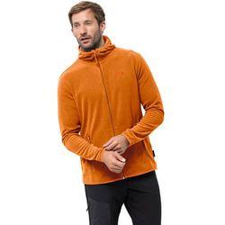 Męska kurtka polarowa ARCO JACKET M rusty orange stripes - L