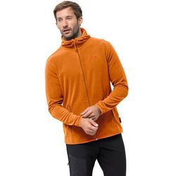Męska kurtka polarowa ARCO JACKET M rusty orange stripes - XXL