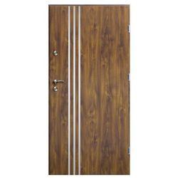 Drzwi zewnętrzne O.K.Doors Arte III Line 80 prawe złoty dąb