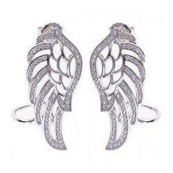 Kolczyko-nausznice w kształcie Skrzydeł Anioła