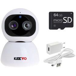 LV-IP29PTZ z microSD 64GB kamera PTZ KEEYO IP FullHD Wifi Niania Elektroniczna bezprzewodowa 2MPx IR 10m