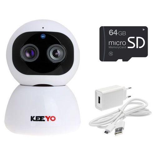 Nianie elektroniczne, LV-IP29PTZ z microSD 64GB kamera PTZ KEEYO IP FullHD Wifi Niania Elektroniczna bezprzewodowa 2MPx IR 10m