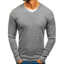 Sweter męski w serek szary Denley H1816
