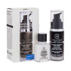 Collistar Linea Uomo Magic Face Drops zestaw Samoopalające kropelki do twarzy 30 ml + balsam po goleniu 15 ml dla mężczyzn