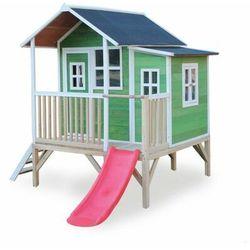 Domek cedrowy dla dzieci EXIT LOFT 350 /zielony/