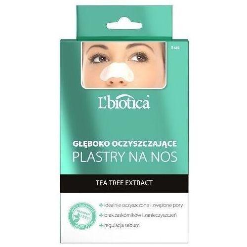 Maseczki do twarzy, L'Biotica Plastry na nos głęboko oczyszczające z Tea Tree Extract x 3 sztuki