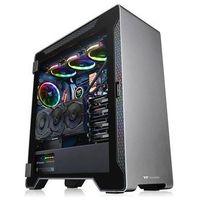 Obudowy do komputerów, Thermaltake A500 Aluminum TG - Obudowa komputerowa - Minitower - Czarny