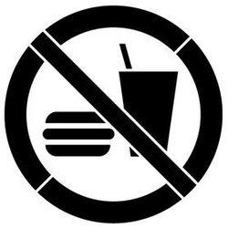 Szablon z tworzywa do malowania Znak Zakaz wstępu z jedzeniem i piciem GP022- 15x15 cm