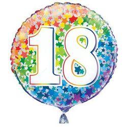 Balon foliowy kolorowy - 18tka - 47 cm - 1 szt.