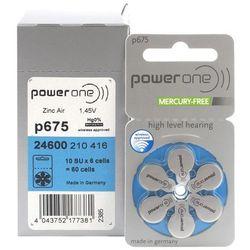 600 x baterie do aparatów słuchowych Power One Varta 675 MF