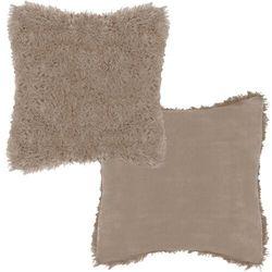 Poszewka dekoracyjna na poduszkę, włochacz 40x40cm brązowy