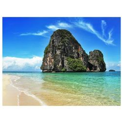 Fototapeta - Egzotyczny krajobraz - plaża Railay, Tajlandia bogata chata