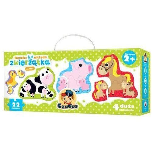 Puzzle, Puzzle CzuCzu Rączka układa Zwierzątka na wsi