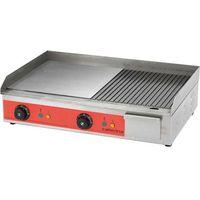 Grille gastronomiczne, Płyta grillowa elektryczna, gładka/ryflowana, 3,3 kW, 605x450x175 mm | CATERINA, 745101
