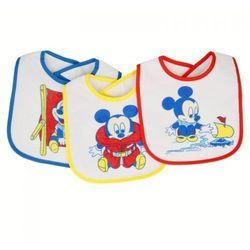 Mickey Mouse - Śliniak bawełniany mały (3 szt)