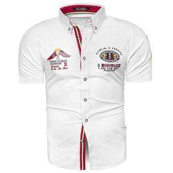Koszula z krótkim rękawem K1332 - biała