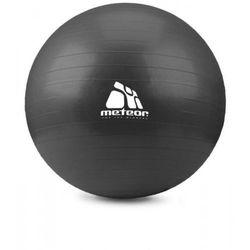 Meteor Piłka fitness black 75 cm z pompką