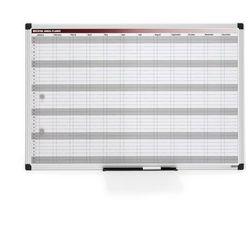 Tablica planu rocznego, magnetyczna, 900x600 mm