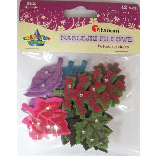 Kreatywne dla dzieci, Dekoracje filcowe z klejem liście 12 sztuk. 339021. - Titanum