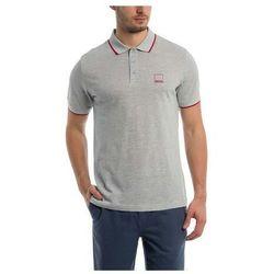 koszulka BENCH - Polo With Y/D Stripes Light Grey Marl Winter (MA1052) rozmiar: XL