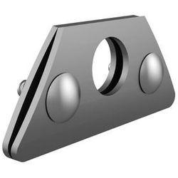 Wspornik rury pojedynczy aluminiowy ze śrubami nierdzewnymi A2 do rąbka stojącego