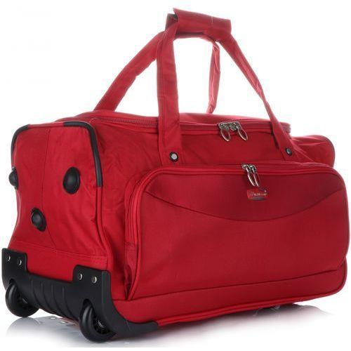 Torby i walizki, Duża Torba Podróżna renomowanej firmy Madisson XL na kółkach ze stelażem Czerwona (kolory)