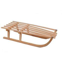 Sanki drewniane z oparciem bukowe