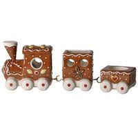 Ozdoby świąteczne, Villeroy & Boch - Winter Bakery Decoration Świecznik na tealight piernikowy pociąg