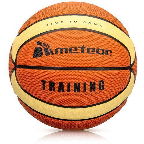 Koszykówka, Piłka koszykowa Meteor Treningowa brązowo-kremowa 7 FIBA