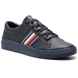 Sneakersy TOMMY HILFIGER - Corporate Leather Low Sneaker FM0FM01943 Midnight 403