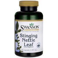 Detox i oczyszanie organizmu, Swanson Pokrzywa (Nettle Leaf) 400mg 120 kaps.