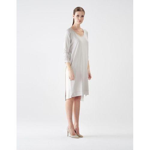 Suknie i sukienki, Sukienka su133 (Kolor: cielisty, Rozmiar: Uniwersalny)