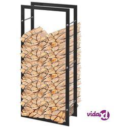 vidaXL Stojak na drewno opałowe, prostokątny, 100 cm Darmowa wysyłka i zwroty