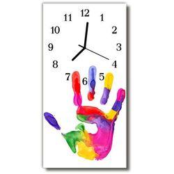 Zegar Szklany Pionowy Ręka farba malowany kolorowy