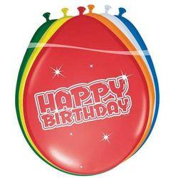 Balony lateksowe z nadrukiem Happy Birthday - 30 cm - 6 szt.